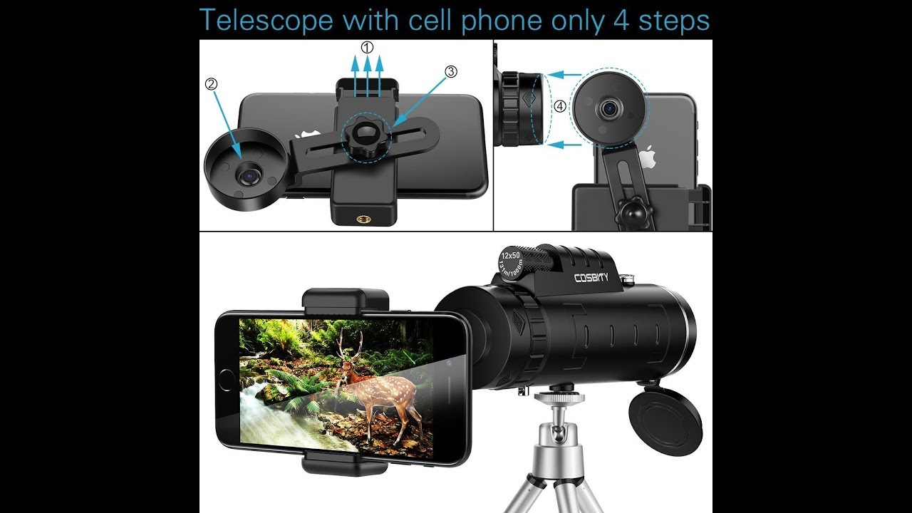 High power monocular telescope monocular scope 12x50 dual focus