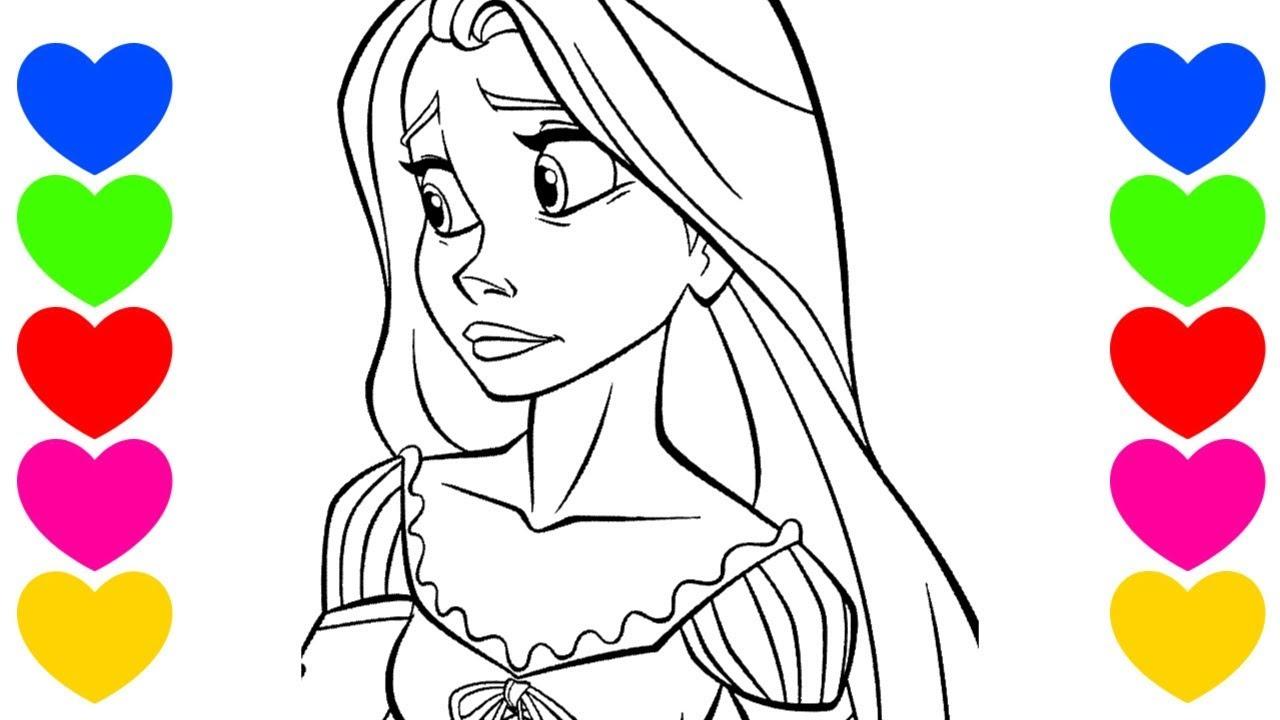 Rapunzel Triste Colorindo A Rapunzel Pintar Desenho Das