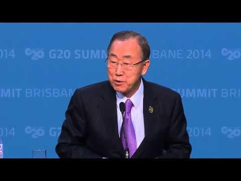 Ban Ki-moon, G20 Australia 2014 - Press Conference