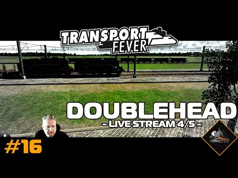 Doubleheader steam train | Transport Fever (live stream part 4/5) | North Atlantic #16