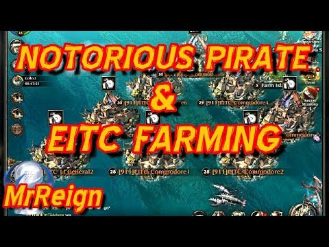 Pirates Of The Caribbean Tides Of War - EITC Farming - Notorious Pirates & Bloody Coins