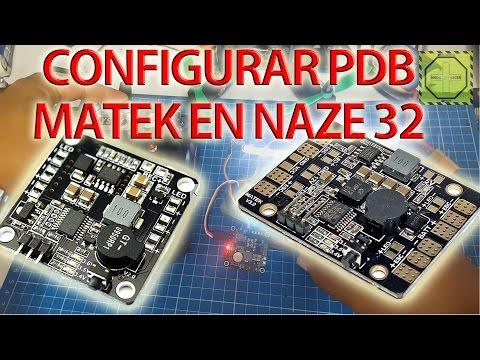 Cómo configurar PDB MATEK 5 en 1 en NAZE32 |DRONEPEDIAMX
