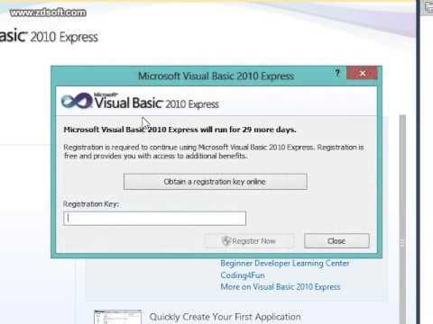 Visual Basic 2010 Expresss Product Key