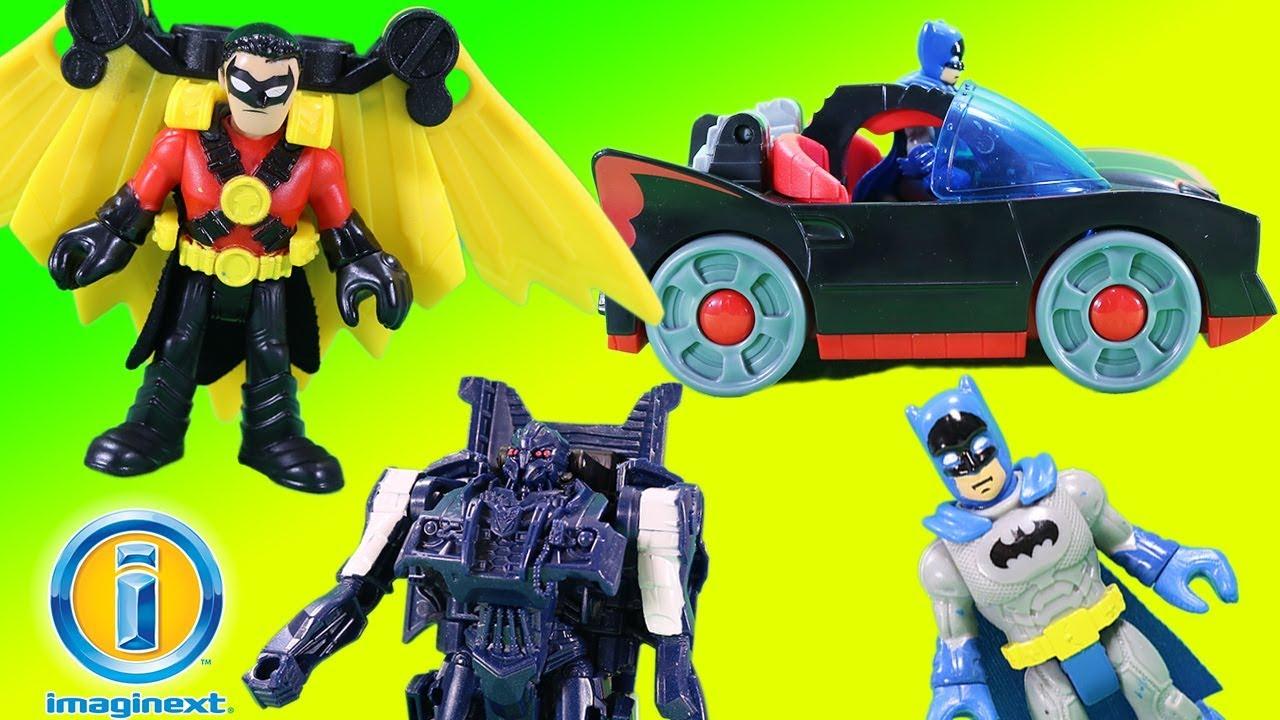 Imaginext Batman Batmobile With Lights Amp Red Robin