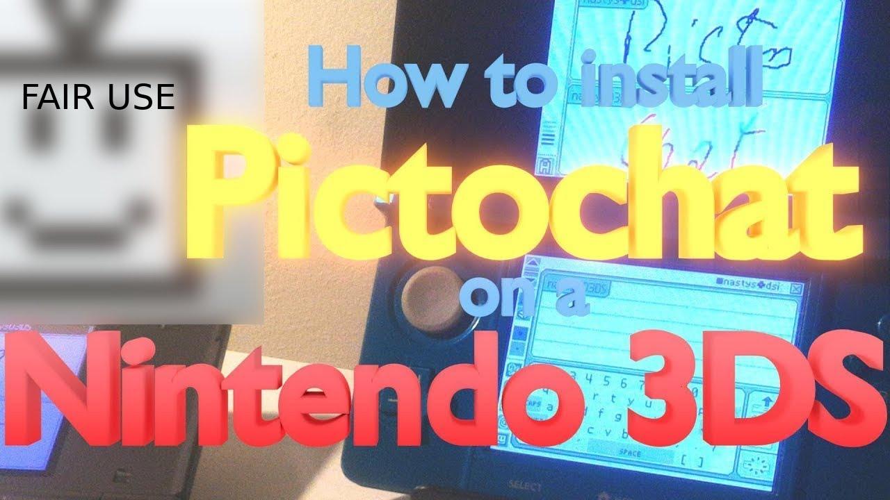 pictochat sur 3ds