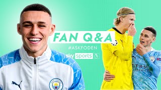 Phil Foden reveals what he REALLY said to Erling Haaland | Fan Q&A with Phil Foden #AskFoden