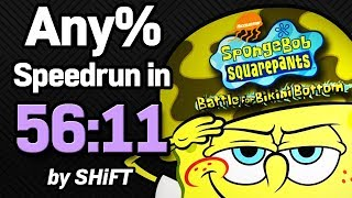 SpongeBob SquarePants: Battle for Bikini Bottom Any% Speedrun in 56:11 (WR on 7/14/2018)
