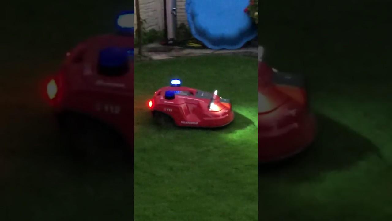 Automower als Feuerwehrauto