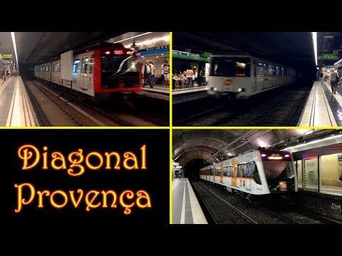 Estación de Diagonal - Provença : Metro y FGC ( Barcelona )
