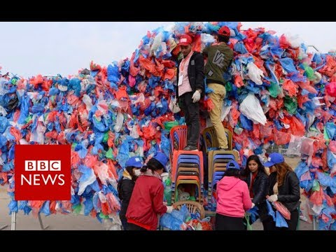 Nepal Eyes World Record With Dead Sea Of Plastic Bags - BBC News
