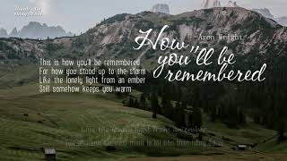 Скачать Vietsub Lyrics How You Ll Be Remembered Aron Wright