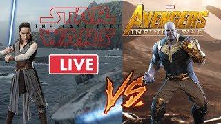 The Last Jedi vs Infinity War-  Moviepilot Live Talk