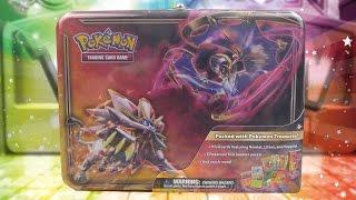Opening a Pokemon Lunala & Solgaleo Sun & Moon Collector's Chest Treasure Tin of Pokemon Cards!