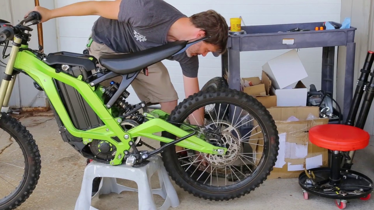 Sur Ron electric motorcycle- Fork and Wheel Replacement
