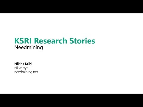 KSRI Research Stories: Needmining