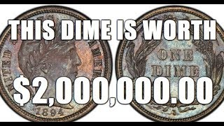 $2,000,000.00 Barber Dime!!! Holy Grail Of US Dimes! Do You Have One?