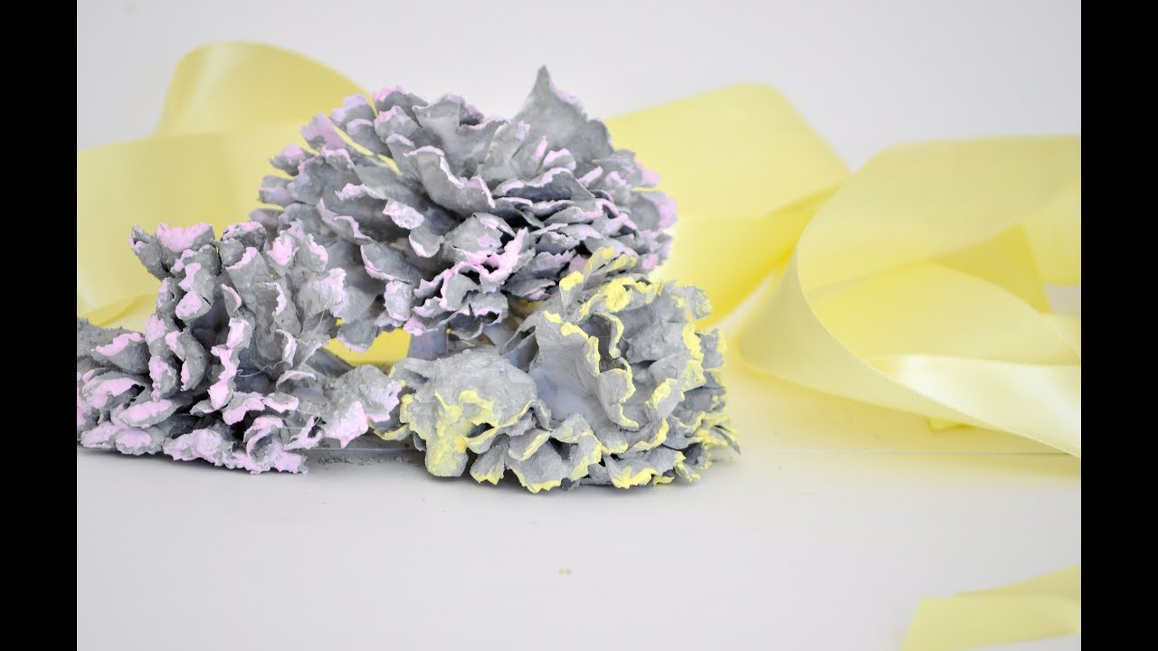 How to make concrete flowers - YouTube