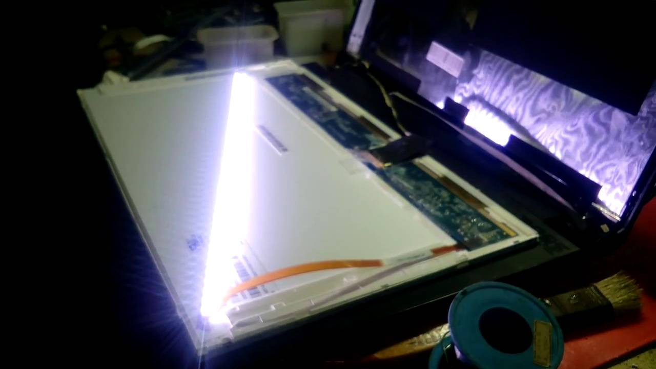 Cara Servic Lampu Led Lcd Laptop Youtube