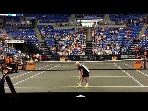 John McEnroe def. Jim Courier 7-6(5)