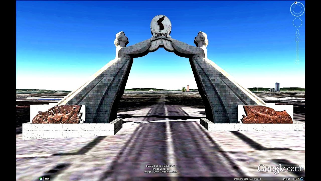 Historical Places Of North Korea In Google Earth Youtube