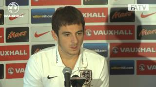 "Everton's Leighton Baines ""growing with every cap"" England vs Poland press conference"