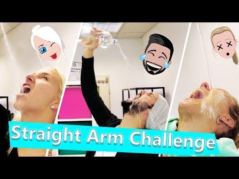 STRAIGHT ARM CHALLENGE & eklige Bohnen Bestrafung - Studio steht unter Wasser! Nina vs Kathi vs Kaan