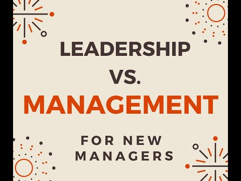 Store Manager Academy Week 1 lesson 7 Leadership Vs. Management