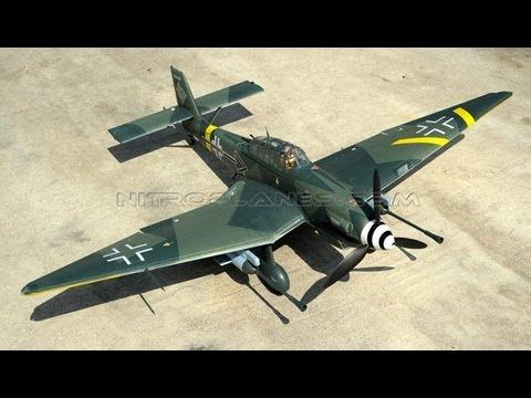 AIRFIELD MODEL JU 87 Stuka Dive Bomber flying by Buzz Tool Elementary School