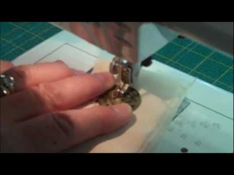 How to QUICKLY sew on a button with a sewing machine