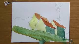 🔴 Drawing Art 👉🏻 Watercolor Sketch Painting Sinus Taught Painting