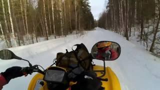 Видео о зимней поездке на квадроцикле cf moto 4х4.(Еще одно видео с покатушек на квадроциклах. Снег, скорость и море позитивных эмоций! Квадроцикл - это еще..., 2017-02-03T11:36:56.000Z)