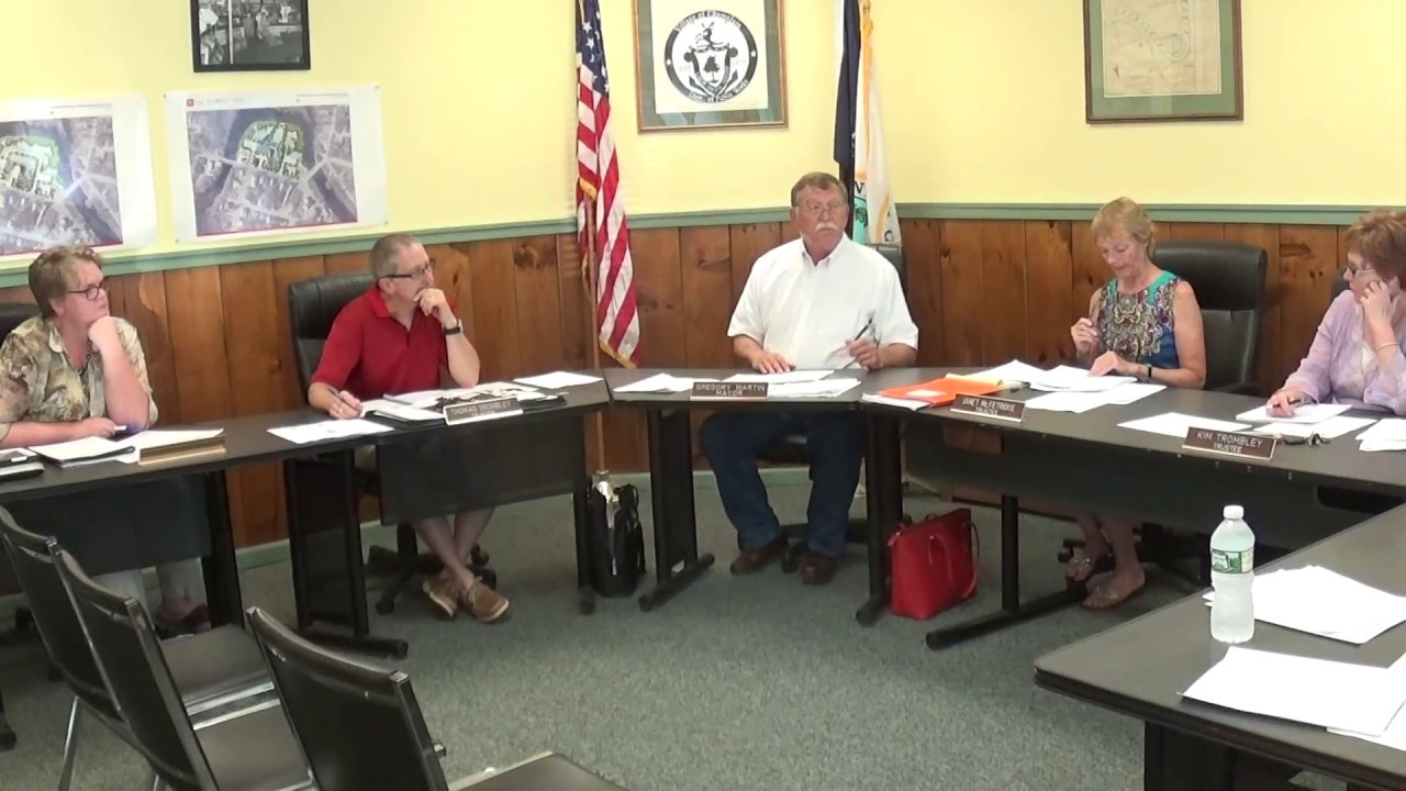 Champlain Village Board Meeting  7-9-18