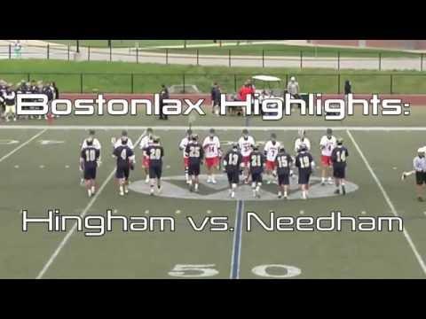 Bostonlax Highlights: Hingham vs. Needham FT: Goalie and Defensemen Goals!