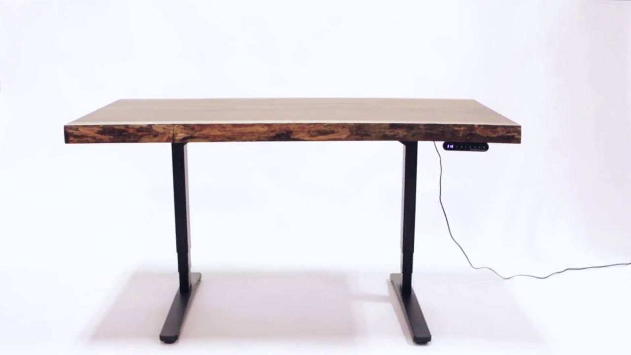 Walnut Live Edge Standing Desk   Country Lane Furniture