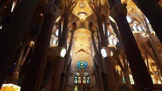 Саграда Фамилия, Барселона.(Как выглядит внутри самое знаменитое место в Барселоне - Собор Саграда Фамилия (Собор Святого семейства..., 2016-10-25T20:16:05.000Z)