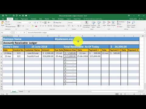 Make Accounts Receivable Ledger in Excel