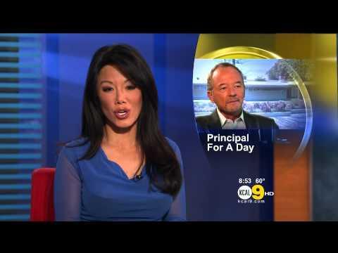 Sharon Tay 2012/10/12 CBS2/KCAL9 HD: Blue dress
