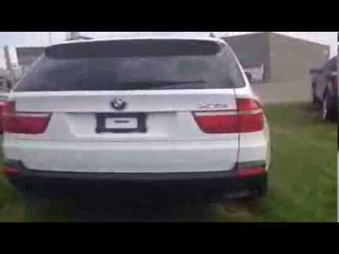 2008 White On Black BMW X5 30si Located In Edmonton Canada