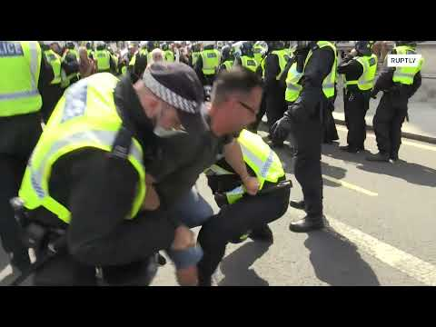 Clashes at restrictions protest on 'Freedom Day' in London