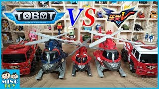 Tobot Y R & Tobot V Rescue Y R Transformaion Toys Comparative review video