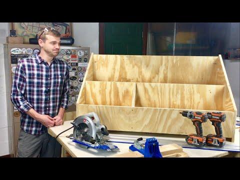 Scrap Bin from a Single Sheet of Plywood