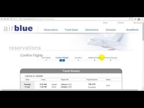 How to check airblue Tickets Price and reservation