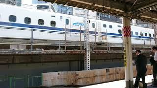 JR東海道新幹線N700系のぞみ 下り東京行(新橋駅通過)