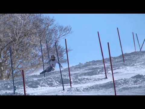 第92回全日本スキー選手権大会 女子SL 長谷川絵美