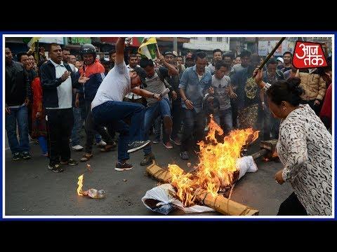 Gorkhaland Protest: GJM Supporters Curn GTA Accord Copies In Darjeeling
