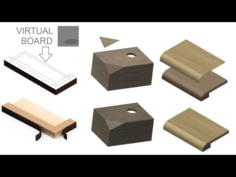 Multibody parts and Virtual board Shelf, Woodwork for Inventor Tutorial