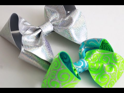 3 BIG SOUTHERN HAIRBOWS! BOW TUTORIAL (X-LARGE 6 inch bows)