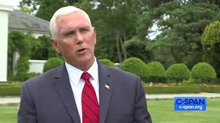 CSPAN Vice President Pence Defends Decision to Stay at Trump Property in Doonbeg