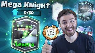 MEGA KNIGHT LEVEL 4 UPGRADE?! u0026 BEST MEGA KNIGHT DECKS! | Clash Royale 12 WIN MEGA KNIGHT CHEST!