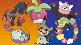 Pokemon Sun and Moon - Six New Pokemon Revealed